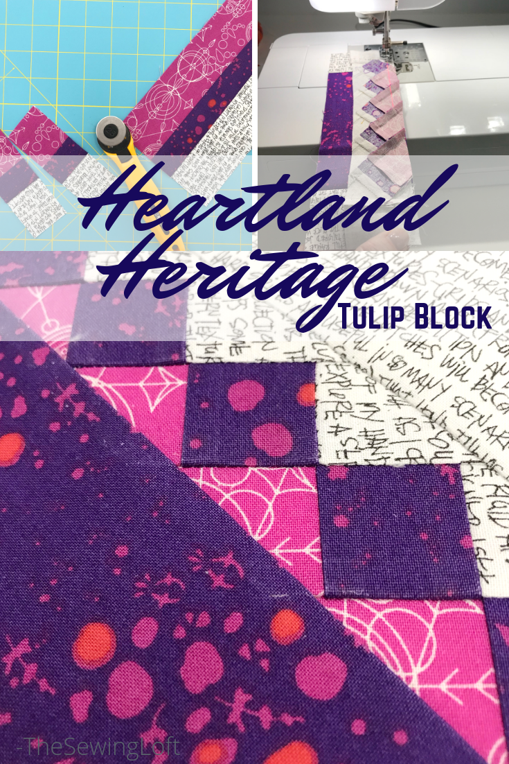 The tulip quilt block from Heartland Heritage is such a cute design that will really stretch your skills.