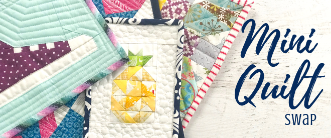 Join the fun of the mini quilt swap with The Sewing Loft