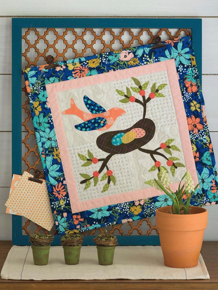 Summer Nest Quilt Wall Hanging
