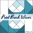 Point Break Waves Quilt Block Cover