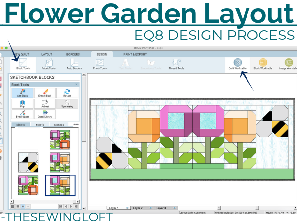 See how easy it is to create quilt layouts with ease in EQ8.