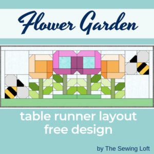 Sharpen your quilting skills while making something fun! Download this free flower garden table runner layout today and start stitching your garden together. Blocks2Quilt by The Sewing Loft