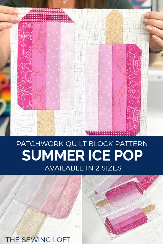 Patchwork Quilt Block | Summer Ice Pop