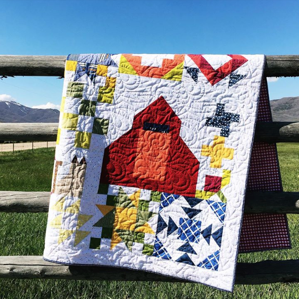 Carefree Picnic quilt pattern. A block of the month program from Inspiring Stitches.