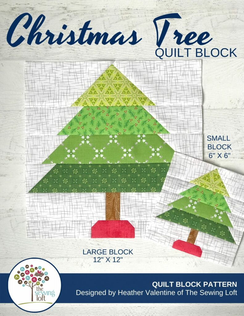 It's time to start stitching for the holidays. Easy to make, scrap friendly Christmas Tree Quilt Pattern available in 2 sizes.