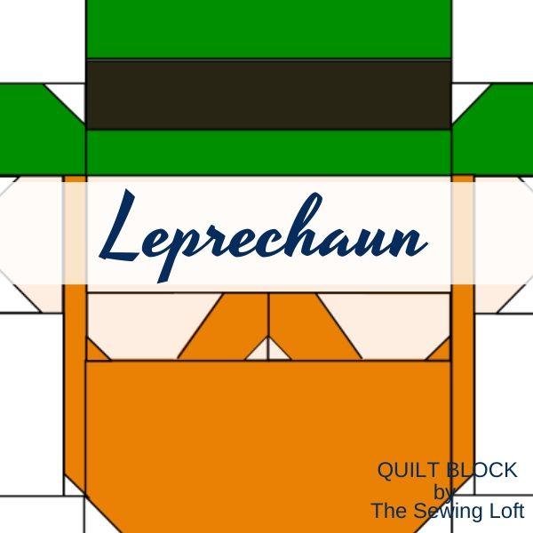 Leprechaun Quilt Block   The Sewing Loft