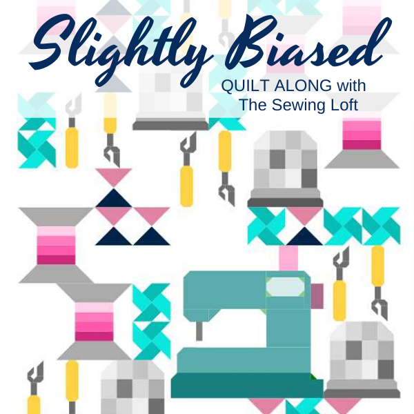 Join the Slightly Biased Quilt Along with The Sewing Loft and turn your scrap stash into something fun. #quiltpattern
