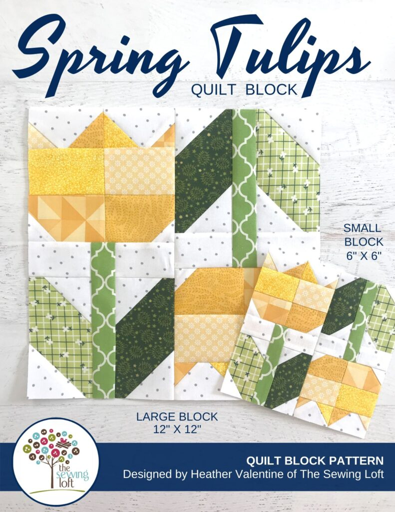 Spring Tulips Quilt Block   The Sewing Loft