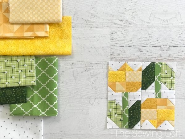 Create a garden of your own with the Spring Tulips Quilt Block from The Sewing Loft.