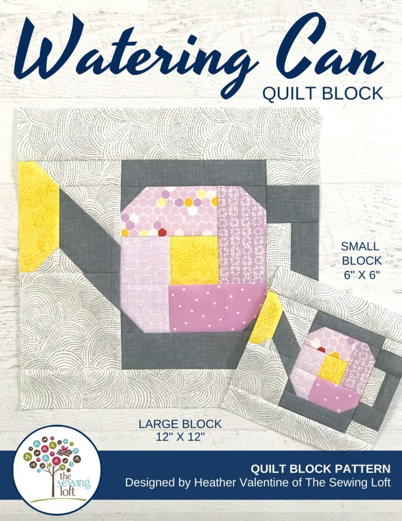 Watering Can Quilt Block Pattern | The Sewing Loft