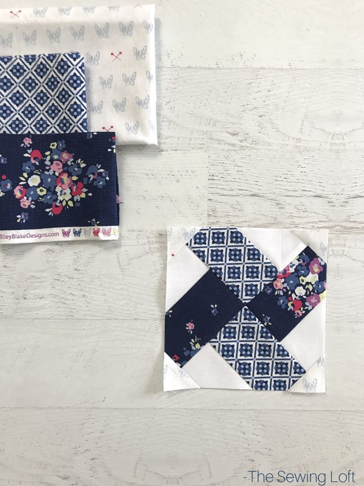 Fabric pull for Connecting Corners Quilt