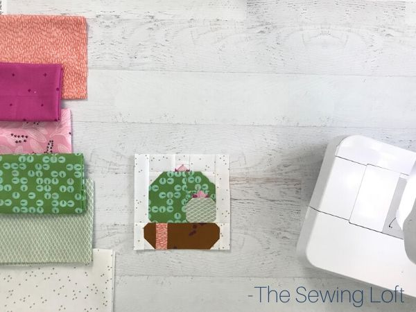 Inspired by nature, the Cactus Bloom quilt block is perfect for fabric scraps. Quilt block available in 2 sizes and requires NO special tools, or templates.