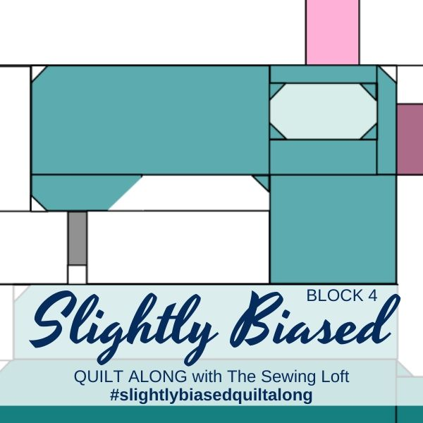 Sewing Machine Block 4 | Slightly Biased Quilt Along with The Sewing Loft