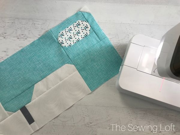 Sewing Machine Block in work | Slightly Biased Quilt Along with The Sewing Loft
