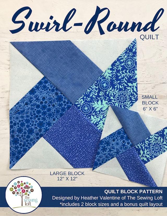 Swirl-Round Quilt Pattern | The Sewing Loft