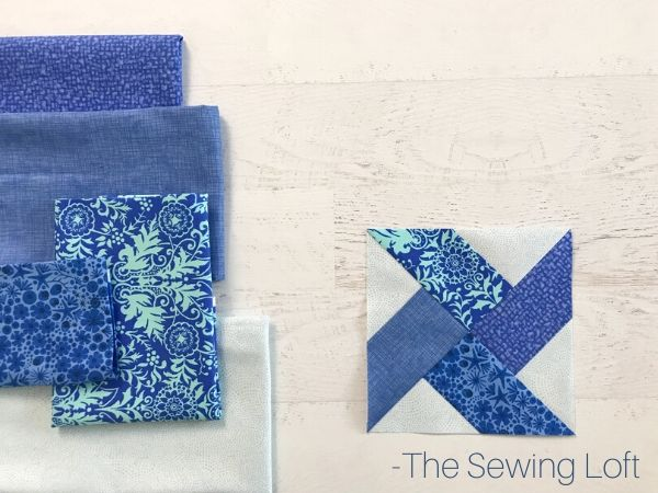 Fabric pull for Swirl-Round Quilt