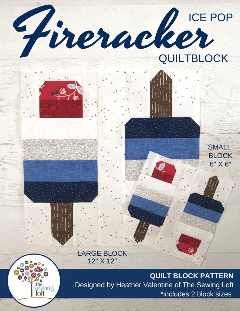 Firecracker Quilt Block Pattern | The Sewing Loft