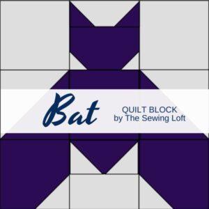Halloween Inspired Bat Quilt Block   The Sewing Loft