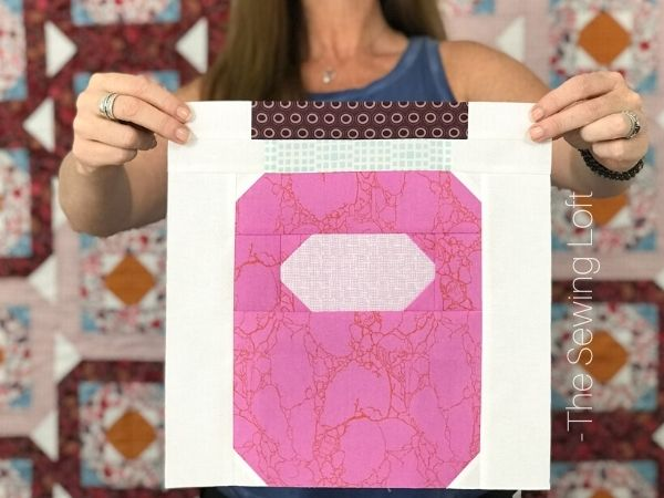 Canning Jar quilt block by The Sewing Loft