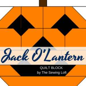 Jack O'Lantern quilt block by The Sewing Loft