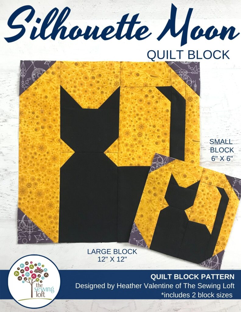 Silhouette Moon Quilt Block Pattern | The Sewing Loft