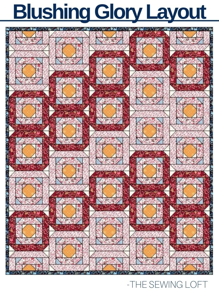 Blushing Glory Quilt in Morrison Park Fabric