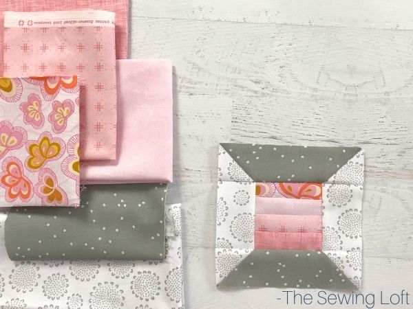 The thread spool quilt block is an easy to make, patchwork quilt block that is perfect for using smaller pieces of fabric scraps. Comes in 2 finished sizes.