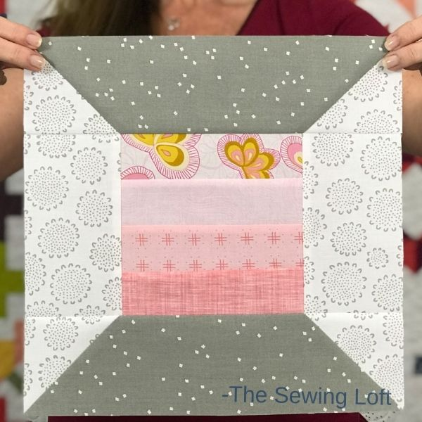Grab your scraps and stitch up this easy to make, patchwork quilt block from The Sewing Loft. The Thread Spool quilt block pattern comes in 2 sizes and is perfect for