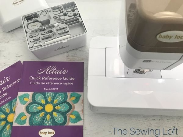 Unpacking the Babylock Altair
