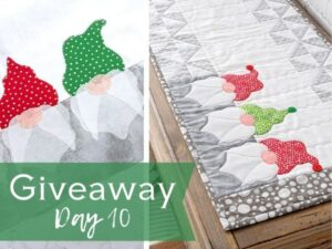 Transform your space into something festive & fun with this easy to make Gnome Table Runner video class. Don't forget to enter the giveaway.