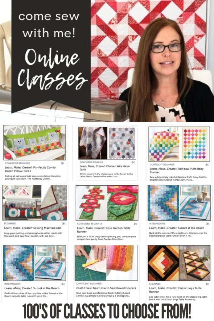 Come join me and learn something new with my online sewing classes at Annie's Creative Studio. With hundreds of classes, you are bound to be inspired!