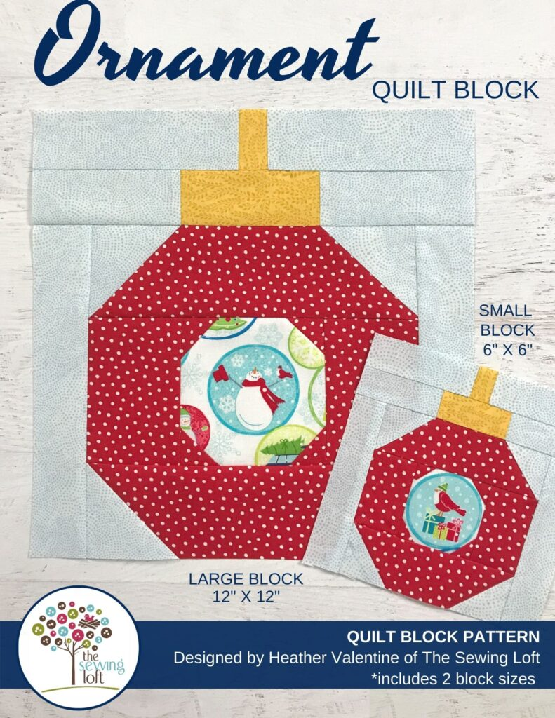 Holiday Ornament Quilt Block Pattern