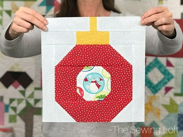 Create one of a kind holiday quilts with the easy to make Ornament quilt block pattern. Available in 2 sizes, beginner friendly and needs no special tools.
