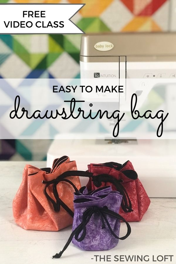 Create beautiful drawstrings with the Bias Binder accessory foot. Free video class with drawstring jewelry bag instructions from The Sewing Loft.