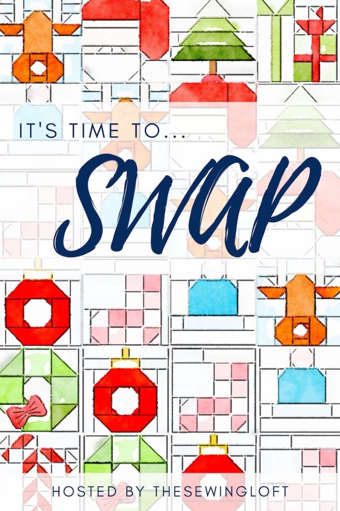 I'm so excited, The Sewing Loft is hosting a holiday theme SWAP!! Sign ups are happening now, be sure to join the fun!