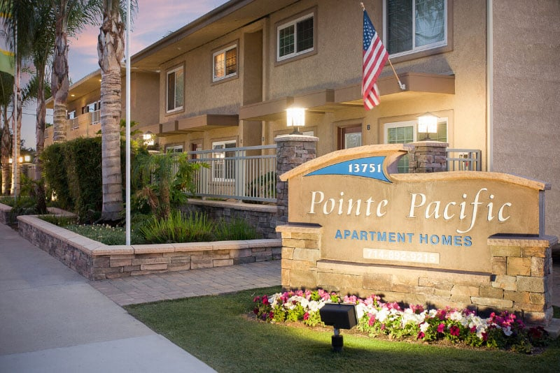Pointe Pacific Apartments Sign