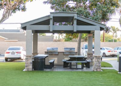 BBQ grill and picnic station