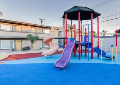 Colorful apartment playground
