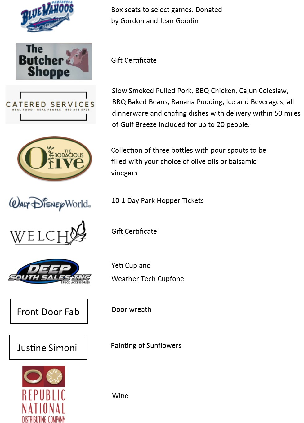 silent auction items to date.