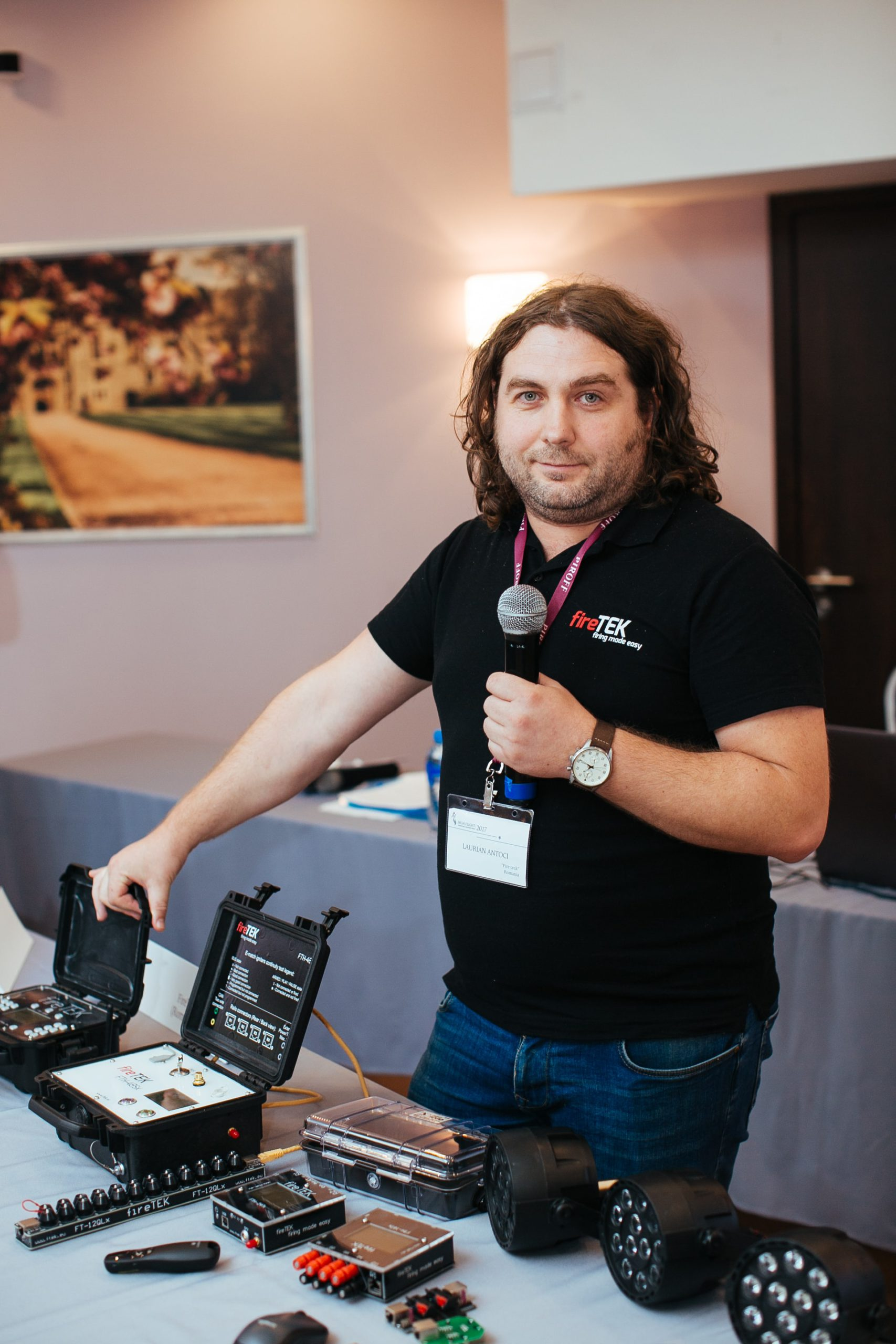Laurian with FireTek at Russia High Forums conference