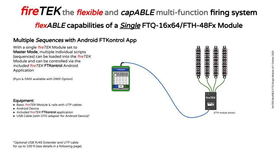 fireTEK single module multiple scripts with FTKontrol App
