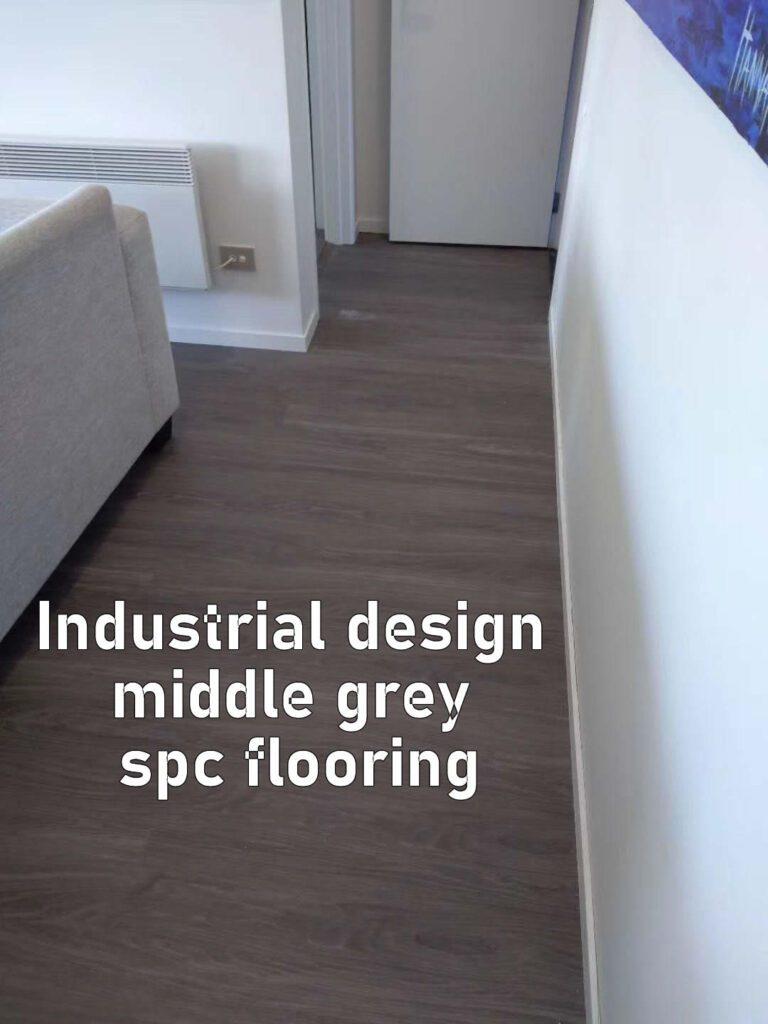 Industrial design Hero middle grey spc waterproof floors