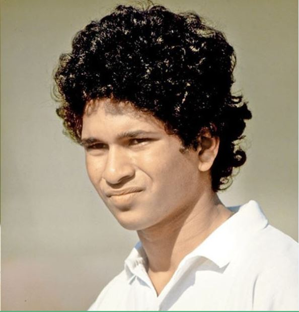 Sachin during this test debut at 1989