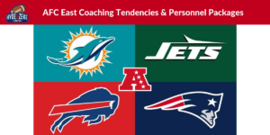 afc east offensive tendencies and personnel usage