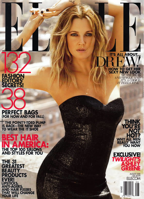 drew barrymore elle magazine cover 2