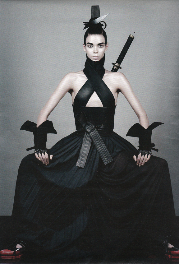 interview magazine ninja gloves