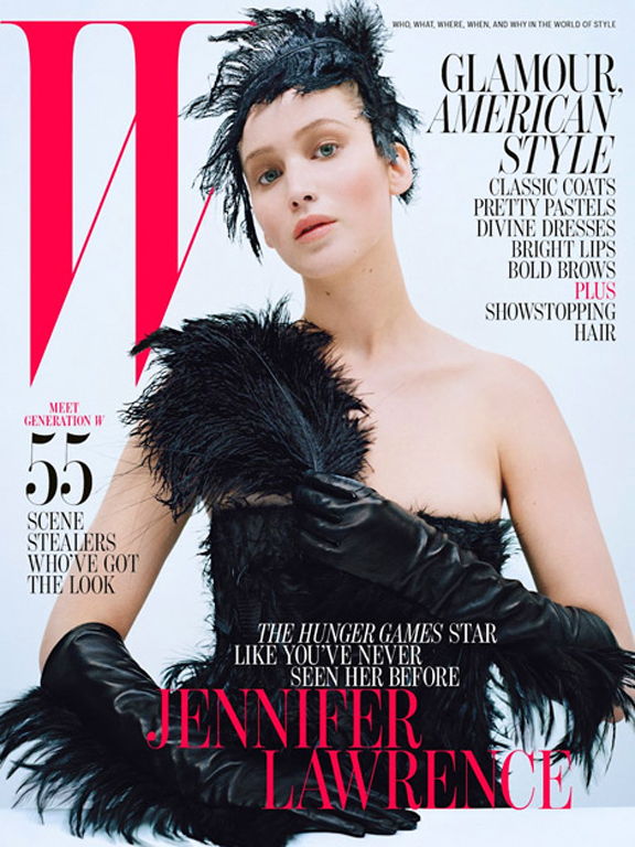 W magazine jennifer lawrence cover