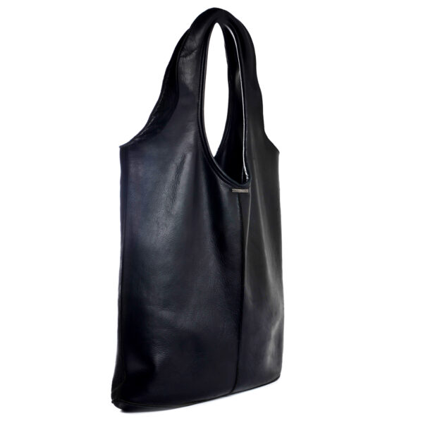 leather crosby tote side