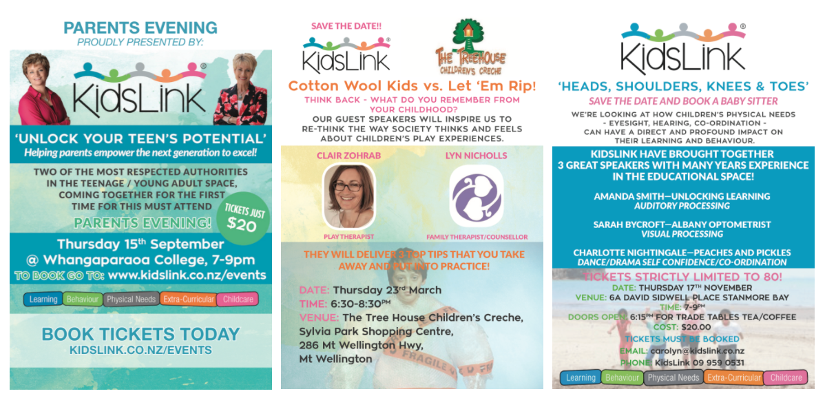 KidsLink Flyers + Billboards