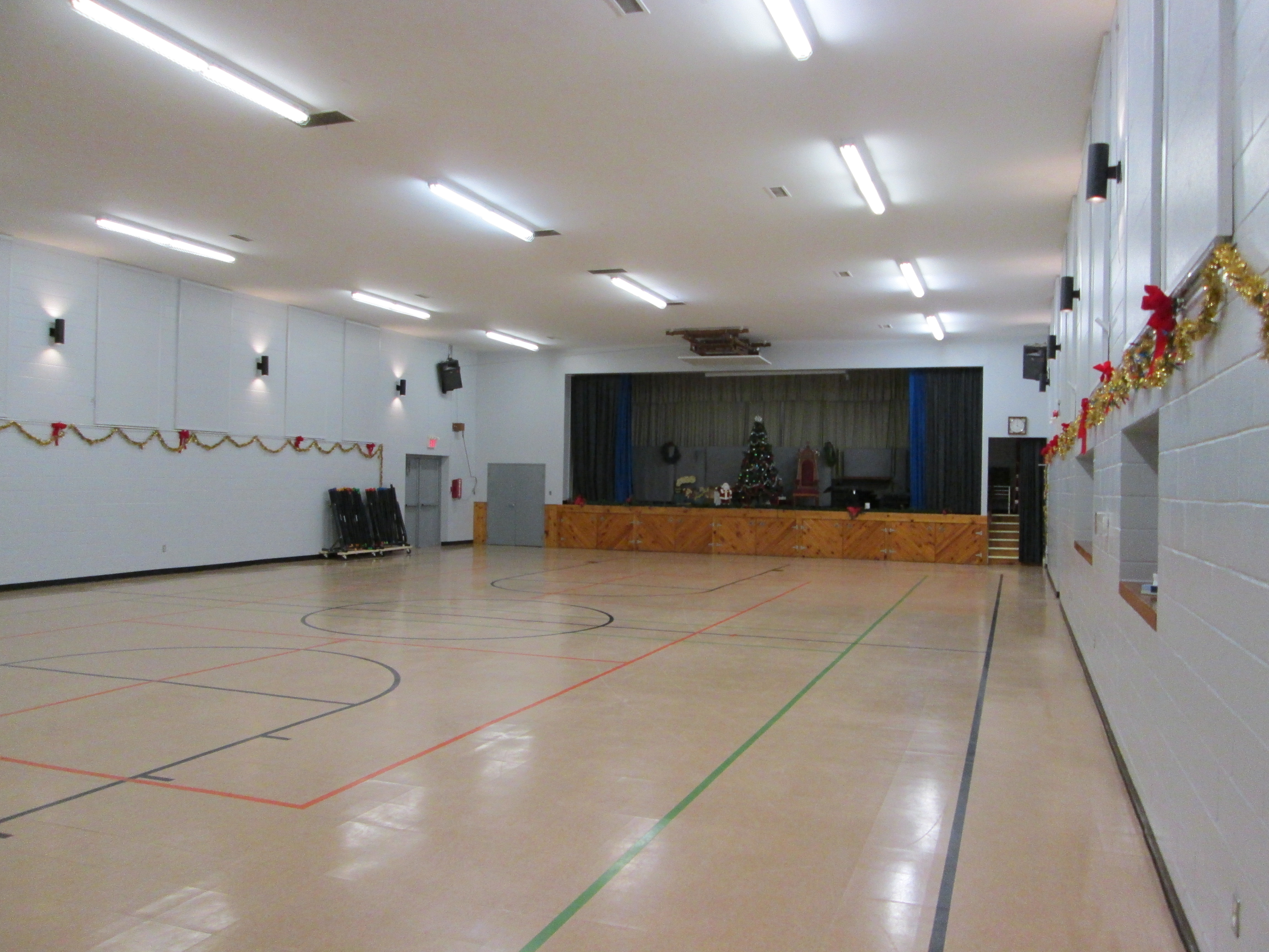 Gymnasium Stage View